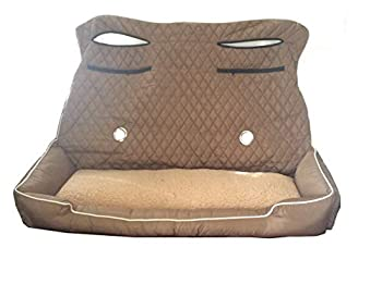 PetBed2Go TAN Large Pet Bed Cushion & Car Seat Cover 52x20x7