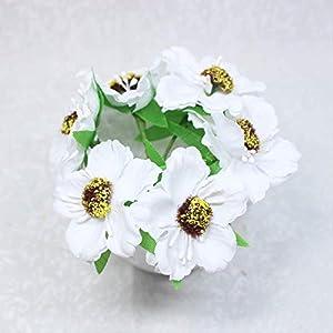 DSWJH Artificial Flower,Flower Heads Mini Silk Artificial Poppy Bouquet Wreath Scrapbook Wedding Decoration Fake Flower