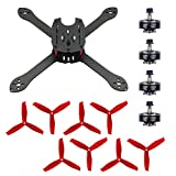 QWinOut 2306 2400KV Brushless Motor 3~4S + X300 300mm Frame Kit with HULKIE 5055S 3 Paddle Propeller Props for 210 250 280 300 FPV Racer Drone