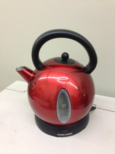 Black & Decker CK1500R Cordless Electric Dome Kettle, Red