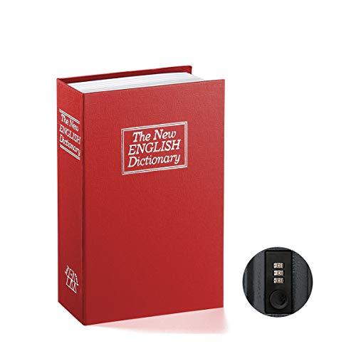 Libro caja fuerte con cerradura de combinación–jssmst casa diccionario desviación Metal cerradura de seguridad caja 2017, Negro Pequeño/tamaño completo, sm-bs04