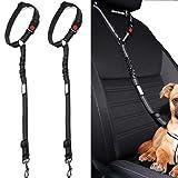 PETZANA Headrest dog car seat belt 2 Pack Adjustable Durable Headrest Seat belt Pet Dog Car Safety...