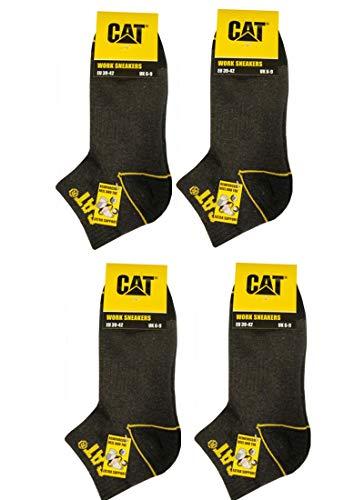 Caterpillar CAT 12 Paar kurze Arbeitssocken in Sneakerform/Arbeitssneaker, Schwarz,Blau, Grau in 39-42/43-46, (43-46, 12 Paar Dunkelgrau)