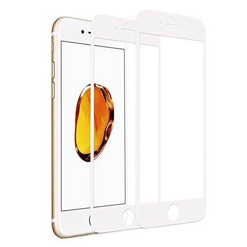 RHESHIN Panzerglas Schutzfolie Kompatibel für iPhone 6 Plus iPhone 6s Plus [2 Stück], 3D Vollständige Abdeckung Displayschutzfolie 9H Härte, Anti-Öl, Kratzer und Blasenfrei ( Weiß )