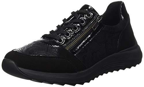 Remonte Damen D5701 Sneaker, Schwarz/T1621/Schwarz/Black/ 02, 44 EU
