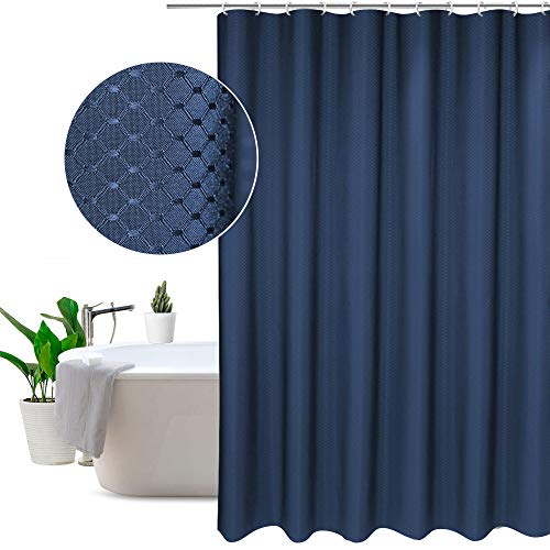 "Eurcross Clear Blue Checks Shower Curtains Standard Size 72""w x 72""l,Home Fashion and Elegant Polyester Bathroom Curtain."