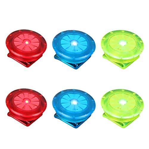 BESPORTBLE 6 Stücke LED Sicherheitslicht Clip Blinklicht Fahrrad Speichenreflektoren für Nacht Läufer Hunde Wandern Running Kinderwagen Fahrradfahrer