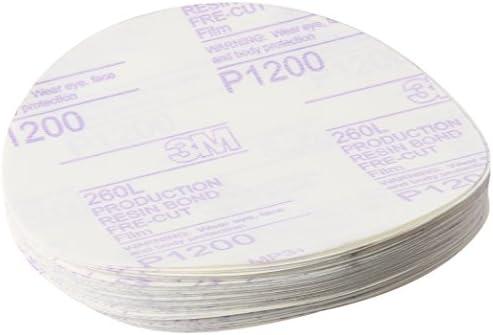 P1200 01185 6 in 25 discs per carton 3M Hookit Red Finishing Film Abrasive Disc 260L