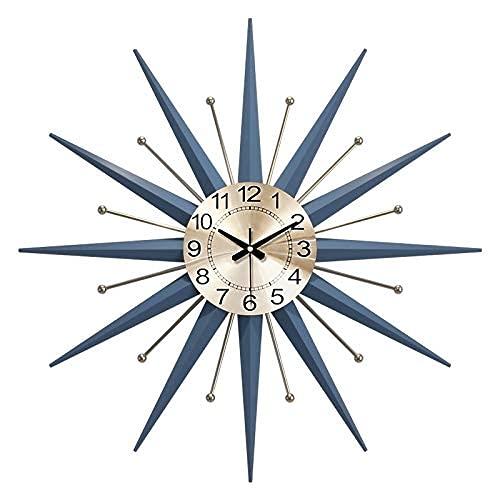 Peakfeng Metall Wanduhr Wandbehang, 3D stille Uhr, Wohnzimmer Wanduhr ohne Zecken Quarz Dekoration Uhr Wanddekoration (Size : A)