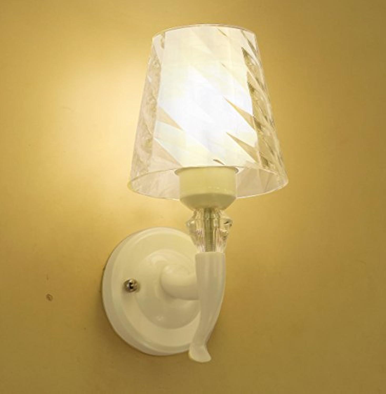 BESPD Minimalistische Edelstahl Bett für Kinder wei Dual Head Wandleuchte für Wohnzimmer Restaurant Flur Treppe Schlafzimmer Bett Lampen leuchten T 5061 A+-Led