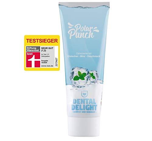 TESTSIEGER bei Stiftung Warentest (Note 1,2 SEHR GUT): DENTAL DELIGHT Polar Punch 12er Vorteilspacks | Zahnpasta mit Geschmack | Prophylaxe & Whitening Toothpaste