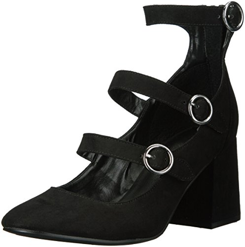 Indigo Rd. Women's JALLEN Pump, Black Velvet, 6.5