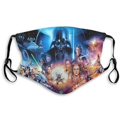 Star-Wars - Bufanda para la boca a prueba de polvo, reutilizable sin costuras