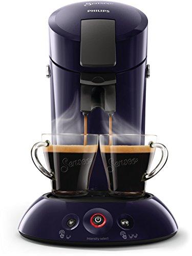 Philips Senseo HD6554/40 Kaffeepadmaschine (Crema Plus, Kaffeestärkewahl) dunkelblau