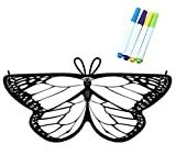 Kids Coloring for Butterfly Wings Crafts Fairy Wings Halloween Masquerade Costumes for Little Girls