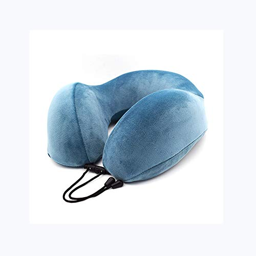 LIAIHONG Memory Baumwolle U-förmige Kissen Outdoor-Reisekissen Nickerchen Nackenkissen blau 28 * 28 * 12cm