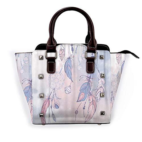BROWCIN Blauer Traumfänger Federn und Perlen Indianer Indianer Abnehmbare mode trend damen handtasche umhängetasche umhängetasche