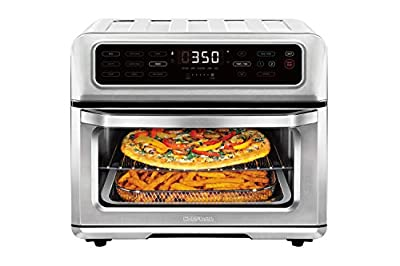 Chefman Dual-Function Air Fryer+ Toaster Oven Combo, 9 Cooking Presets w/Convection Bake and Broil, Auto Shut-Off, 60 Min Timer, Fry Oil-Free, Nonstick Interior, Toast Shade Selector,Stainless Steel