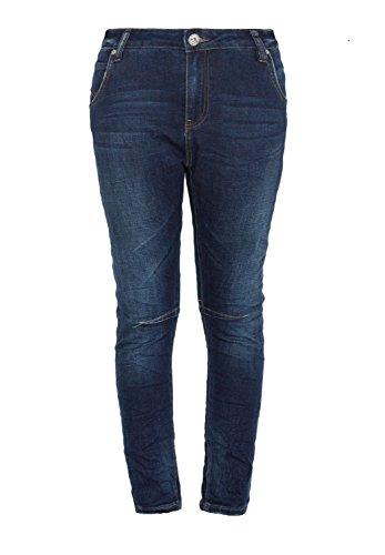 Blue Monkey Damen Cropped Boyfriend Celine 1230 5 Pocket Hose Skinny Fit Jeans Crinkleoptik Celine 1230