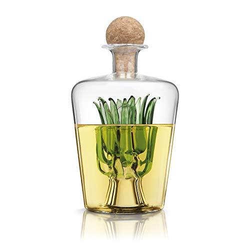 Final Touch Agave - Décanteur tequila - Avec bouchon en liège portugais naturel - Contenance : 850 ml
