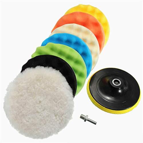 Ashley GAO Coche belleza esponja rueda disco pulido disco de lana encerado disco molienda disco 3 4 5 6 7 pulgadas 9 piezas set auto belleza esponja