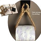 Porte Papier Toilette Corde Adhesif - FABRICATION FRANÇAISE ARTISANALE -...