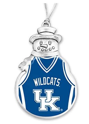 FTH 60629 Kentucky Wildcats Basketball Jersey Snowman Christmas Ornament