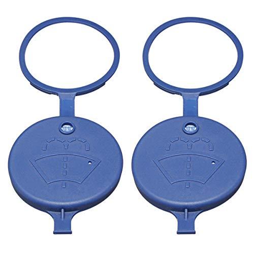 JEOSNDE 2pcs Wind Shield Wiper Washer Fluid FLUS BOTEL BOTEL Cap para Peugeot/para Citroen