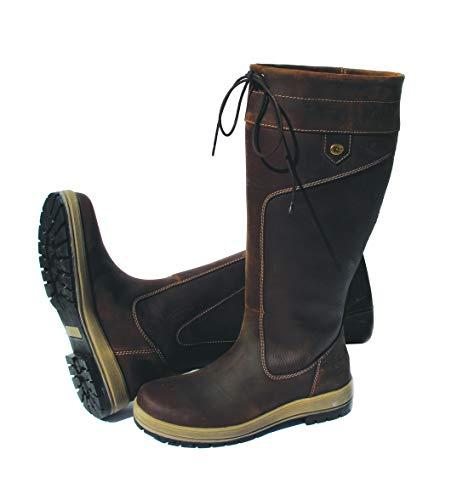Rhinegold Elite Waterproof Vermont Boots-Wide Leg-7 (41)-Brown, Botas Anchas Pierna Marrón Unisex Adulto, Size 7 (EU41)
