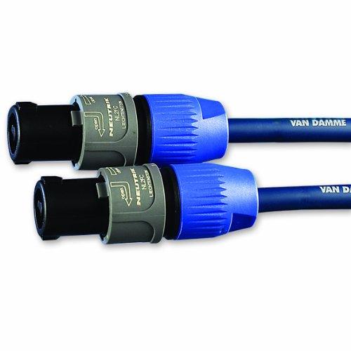 Van Damme Speakon Neutrik (NL2FC/NL2FC) Lautsprecheranschlußkabel (2x 1,5mm², Länge 10m)
