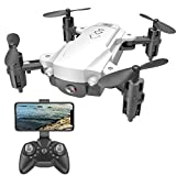 ARcalass Drone with 50 Times Zoom WiFi FPV 4K/1080P Dual Camera Optical Flow RC Foldable Professional Drone WiFi FVP Drone Height Hold Video Recording Gesture Photo Drone with Camera (White)