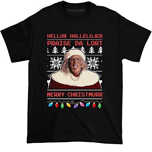 Madea hellur hallelujer Praise da lort Merry Christmas Tshirt t-Shirts for Men, t-Shirts for Women, Hoodie Black