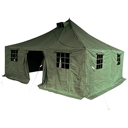 Mil-Tec 14222001 - Carpa para acampada color verde talla 4,8m x 4,8m x 3,2m