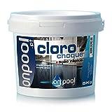 Onpool - Cloro Choque 5 Kg granulado para Piscina o SPA - Acción de desinfección Potente y rápida, eliminando microorganismos, Algas y cloraminas Que irritan los Ojos y la Piel de los bañistas.