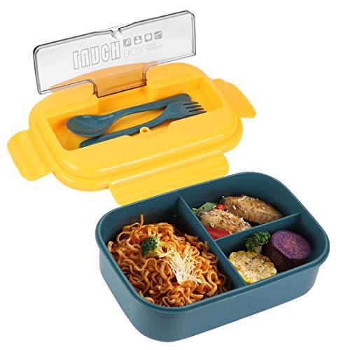 O-Kinee Bento Box, Lunchbox Picknick, Lunchbox Kinder, Brotbox Kinder, Lunchbox mit Fächern, Brotdose Kinder, Lunchbox Box für Kinder, Auslaufsichere Brotzeitbox Vesperdose Mikrowelle Heizung