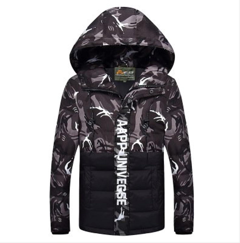 ZHUDJ Man Winter Camouflage Jacket Hooded Casual Jacket
