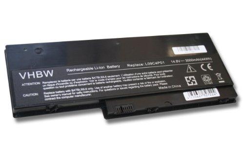 Batterie LI-Polymer 3000mAh 14.8V noir pour IBM IdeaPad U350, IdeaPad U350 20028, IdeaPad U350 2963, IdeaPad U350W remplace 57Y6265, 57Y6352, L09C4P01
