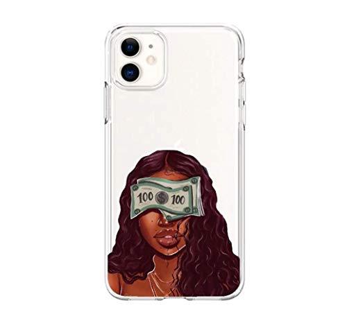 Make Money Cash Money Phone Case| Black/Melanin Girl Magic Phone Case for iPhone 12/12 Pro Silicone Cover…