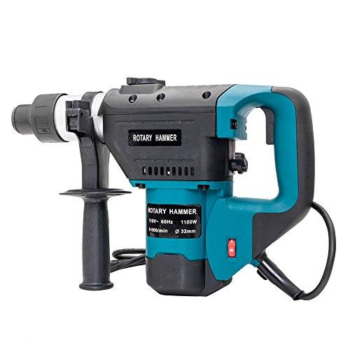 Rotary hammer 1-1/2' SDS Electric Hammer Drill Set 1100W 110V Blue