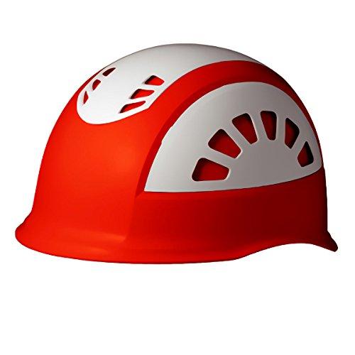 ミドリ安全 ヘルメット 作業用 ABS製 通気孔付 消臭汗止内装 SC17BV RA NS KP付 オレンジ/ホワイト