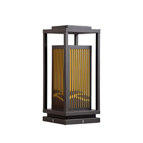 XJJZS Lámpara de Exterior Lámpara de Cabeza de Columna Impermeable al Aire Libre Lámpara de Patio Simple Lámpara de Cabeza de Columna de Paisaje de jardín