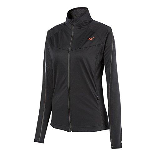 Mizuno Running Damen Breath Thermo Softshell-Jacke, Schwarz/Anthrazit, XS
