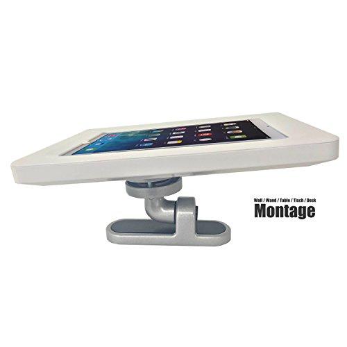 """iPad /Tablet Wandhalter und Tischhalter Schwenbar und Neigbar ideal auch als Kassensystem Diebstahlschutz iPad 1 2 3 4 iPad Air und alle anderen Tablets bis 10\"""" Diebstahlschutz Appstop Funktion stylisch"""