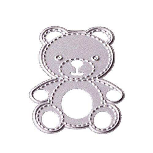 Plantillas de corte de metal para manualidades, diseño de oso pequeño