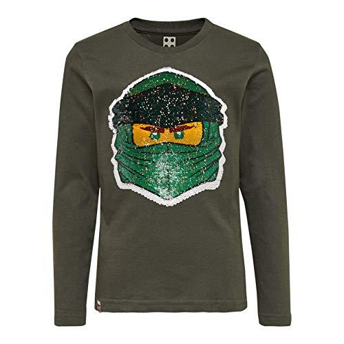 LEGO Jungen CM-50405-T Shirt L/S Langarmshirt, Grün (Dark Green 883), (Herstellergröße: 104)