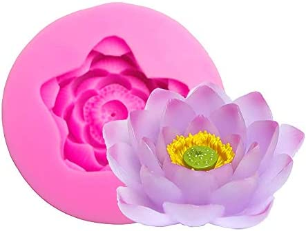3D Lotus Flower Shaped Silicone Soap Mold Wax Candle Making Mold Epoxy Resin DIY Craft Mold product image