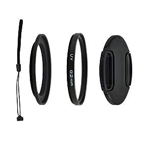 PROfoto.Trend/Kiwifotos Kit de Lentes para Nikon Coolpix B700, P600, P610, P610S - Incluye Adaptador de Filtro de 62mm, Filtro UV, Tapa de Objetivo y Cadena de Tapa para Objetivo