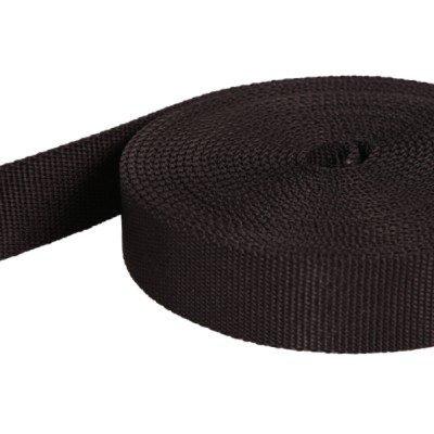 10m Schlauchgurt /Schlauchband aus Polyamid, 40mm breit, schwarz