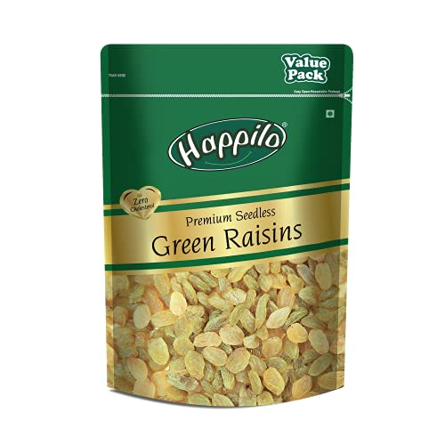 [Apply coupon] Happilo Premium Seedless Green Raisins Value Pack Pouch, 500 g