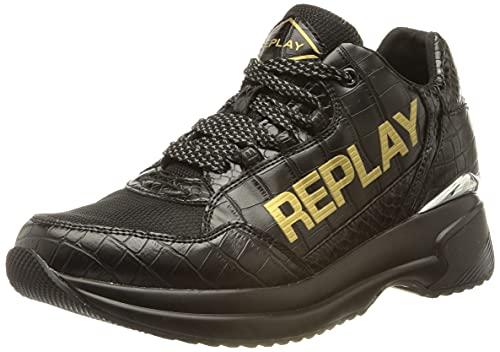 Replay Damen Comet-EVANDEL Sneaker, 003 Black, 40 EU